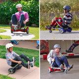 Ce van het nieuwe Product keurde Regelbare Zetel Hoverkart voor Zitten van het Go-kart van Hoverboard van de Autoped van het Saldo van Twee Wielen het Zelf goed