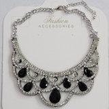 De Halsband van de Kraag van het Kristal van dame Fashion Jewelry Blue Waterdrop Glas (JE0196)