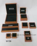 Rectángulo de joyería superior clásico de la colección de la madera dura de Brown