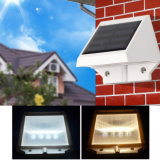 Luz solar al aire libre accionada solar del jardín de la luz del canal de la cerca de 4 LED de la yarda de la pared de la lámpara al aire libre LED del camino
