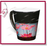 12oz Glossy Black Color Latte Wärme-empfindliches Color Changing Mug