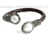 Ювелирные изделия Leather Gemstone Bracelet способа для Lady Girl