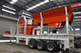 A planta de esmagamento móvel da série do Lp, monta pneus a planta de esmagamento móvel