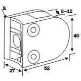 Spigot de vidro do corrimão do aço inoxidável da alta qualidade para a câmara de ar da balaustrada (CR-053B)