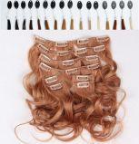 grampo humano do Virgin brasileiro de 8A 140g em extensões do cabelo