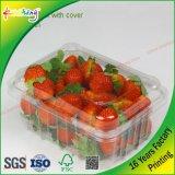Cadre d'empaquetage en plastique de PVC d'espace libre de couverture de vente en gros d'usine pour le légume de viande de fruit