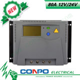 80A, 12V/24V 의 LCD 태양 관제사