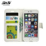 Personnaliser la caisse en cuir de téléphone de pochette d'unité centrale pour la caisse de téléphone de dos de l'iPhone 6