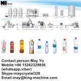 Máquina que capsula de relleno que se lava mineral en botella del agua de manatial
