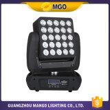 Luz principal móvil de la viga LED de la matriz de la iluminación LED 25X12W de DJ del acontecimiento