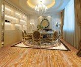 Mattonelle di pavimento Polished della porcellana di marmo dorata