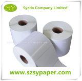 Papier pour étiquettes auto-adhésif synthétique de bonne qualité de papier thermosensible