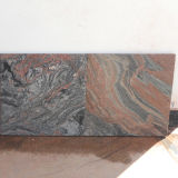 建築材料の壁はJupranaのMutil赤い花こう岩をタイルを張る