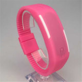 Gelbert Mann-Frauen Sillicon LED wasserdichte Dattel-Armband-Digital-Sport-Armbanduhr