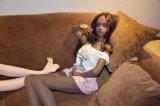 Muñeca rubia de calidad superior del sexo de la niña (los 132cm)