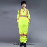 Poly Salut-À savoir longs vêtements de travail r3fléchissants de sûreté de chemise avec la bande r3fléchissante