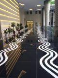 Laje preta de pedra de vidro Nano de Crystalllized para a pavimentação do assoalho