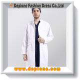 Witte Hospital Gown voor Doctor Uniform (DU502)