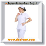 Le uniformi bianche di professione d'infermiera comerciano il vestito all'ingrosso (HU101)