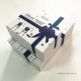 Boîte-cadeau de papier rigide se pliante de carton pour l'empaquetage d'accessoires de vin