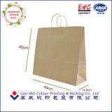 カスタムロゴによって印刷されるクラフト紙の食料雑貨入れの袋