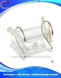 Кухня металла одиночная и двойная яруса Dishes стеллаж для просушки