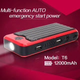 Fabrik Supply Car Portable Multifunctional 12V/12000mAh Emergency Car Jump Starter Ox-T6
