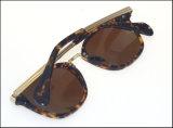 Óculos de sol polarizados redondos da alta qualidade do desenhador para homens