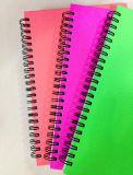 Doubles approvisionnements d'école de ressorts spiralés de livre À couverture dure de carnet de notes à spirale d'A5 pp