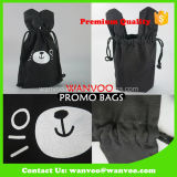 Mode promotionnel Cartoon Nature Jute Drawstring Coffee Tea and Nuts Sacs pour l'emballage