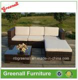 プラスチック藤によって編まれる家具の屋外のソファー