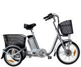 triciclo elétrico de 36V 250W com cesta traseira