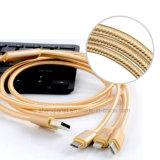 2016 3 in 1 Nylon umsponnenem USB-Kabel für iPhone/Anroid Telefon/Typen c-Kabel