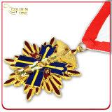 Su ordinazione la medaglia del metallo di figura del cuore di festival di carnevale della pressofusione