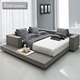 Global Hit 및 Popular Design 침실 Furniture Fabric Bed