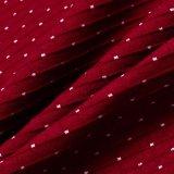 Tissu de Knit de coton de vérifications avec le POINT