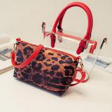 Bolsa transparente Sy7652 do Tote da mulher dos sacos de compra do saco de ombro do Patten do leopardo