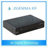 Sustentação satélite Kodi Hevc/H. 265 do T2 DVB C do decodificador DVB S2 DVB com IPTV Zgemma genuíno H5
