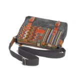 Mode Causal Design Jacquard Canvas Fabric Shoulder Bag pour Outdoor Travel (RS-6007B)