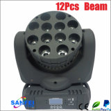 Diodo emissor de luz Moving Head 12PCS Beam Light do DJ do disco