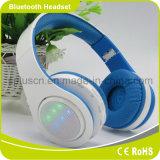 Éclairage LED dynamique vers le haut des écouteurs de Bluetooth avec le contrôle du volume de MIC
