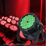 1つのLEDの同価ライトに付き防水屋外54X3w屋外RGBW 4つ