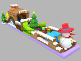 14X4m New Design Inflatable Snow Obstacle для Sale