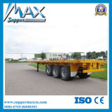 Twist LocksおよびHoopsの熱いSale Flat Bed Container Chassis Trailer Skeletal Semi Trailer
