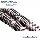 Barril gemelo paralelo del tornillo para la máquina del estirador