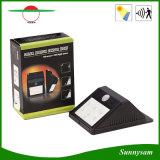 6 DEL IP65 imperméabilisent la lumière solaire extérieure de mur de détecteur de mouvement de détecteur de la lumière humaine sans fil PIR de jardin