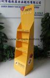 Banco di mostra del pallet del pavimento del cartone di Pegboard con gli ami con stampa in offset di Cmyk