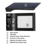 L'illuminazione esterna impermeabilizza l'indicatore luminoso alimentato solare del sensore di movimento dell'alto di lumen dei 48 LED della parete del supporto della lampada indicatore luminoso di notte