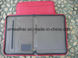 Caderno Red Notebook Zipped Conference Folder Portfolio