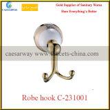 Штанга санитарного вспомогательного оборудования ванной комнаты изделий золотистая двойная